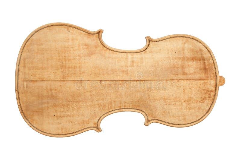 Achterplaat van een antieke viool royalty-vrije stock fotografie