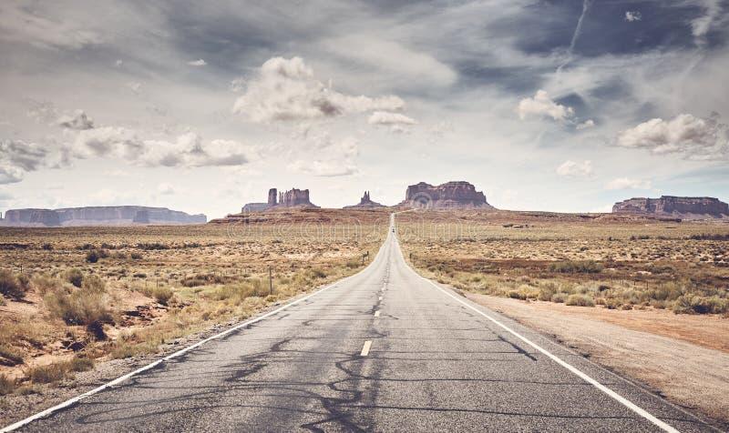 Achterste gestileerde afbeelding van Monument Valley, Utah, VS royalty-vrije stock fotografie