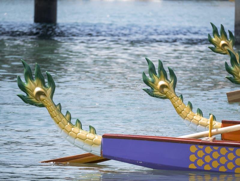 Achtersteven van Dragon Boat royalty-vrije stock afbeeldingen