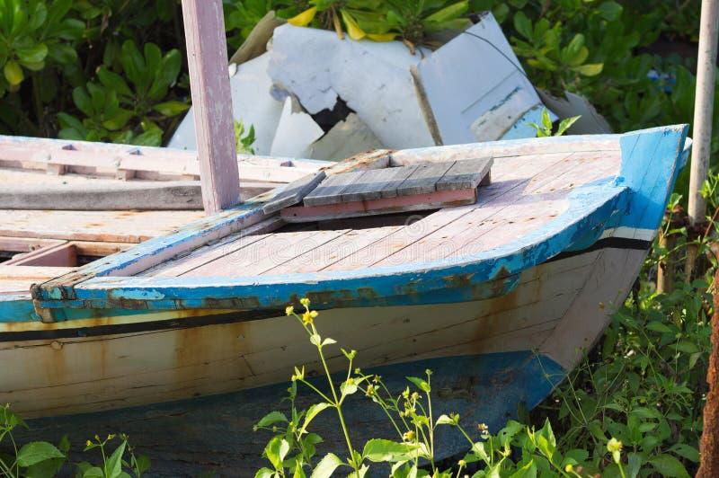 Achtersteven van een maldivian boot royalty-vrije stock foto's