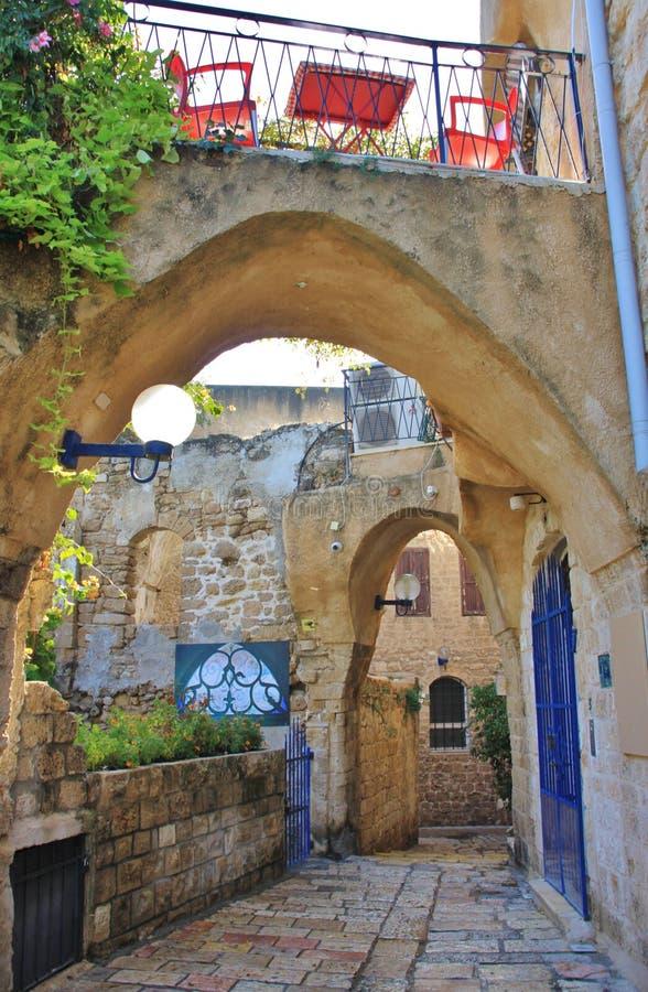 Achtertuin in Jaffa stock afbeeldingen