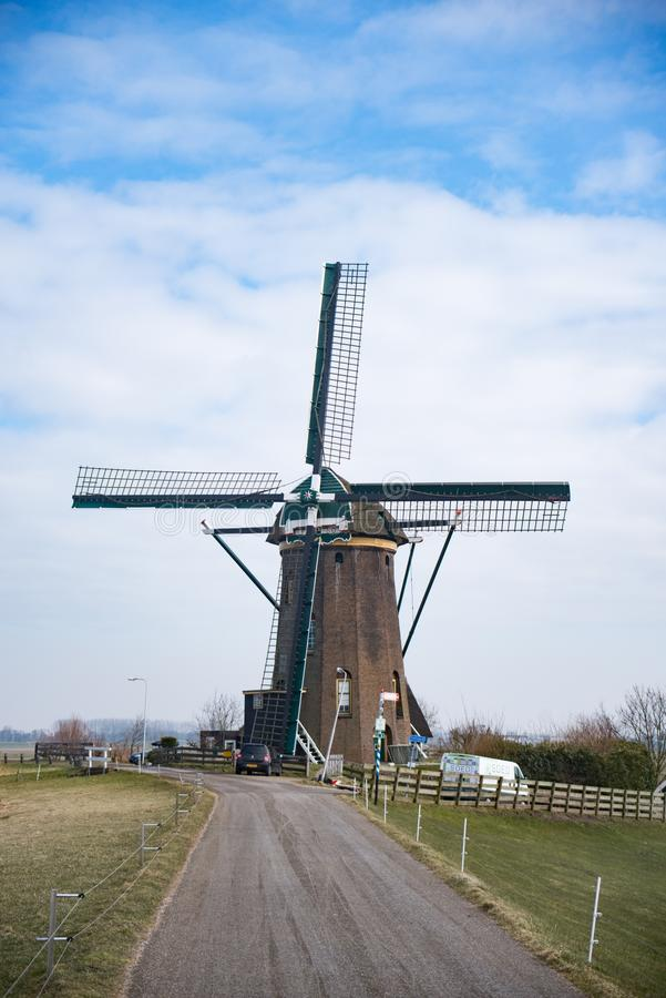Achtkantige molen Rijpwetering fotos de archivo libres de regalías