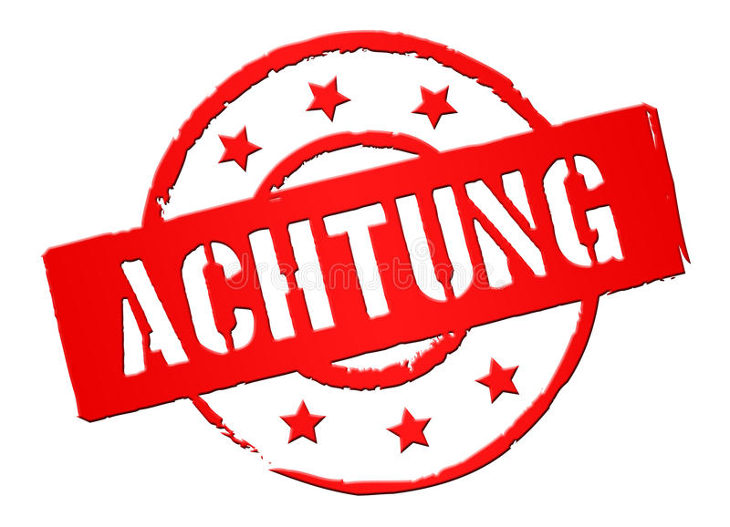 Download Achtung stock image. Image of milit, stamps, danger, schild - 23875549