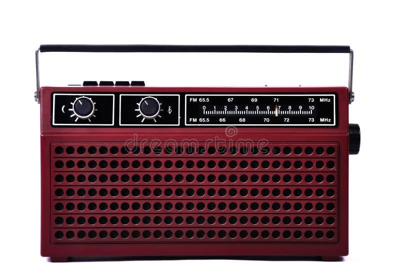 achtziger Jahre Retro- Radio lokalisiert über weißem Hintergrund vektor abbildung