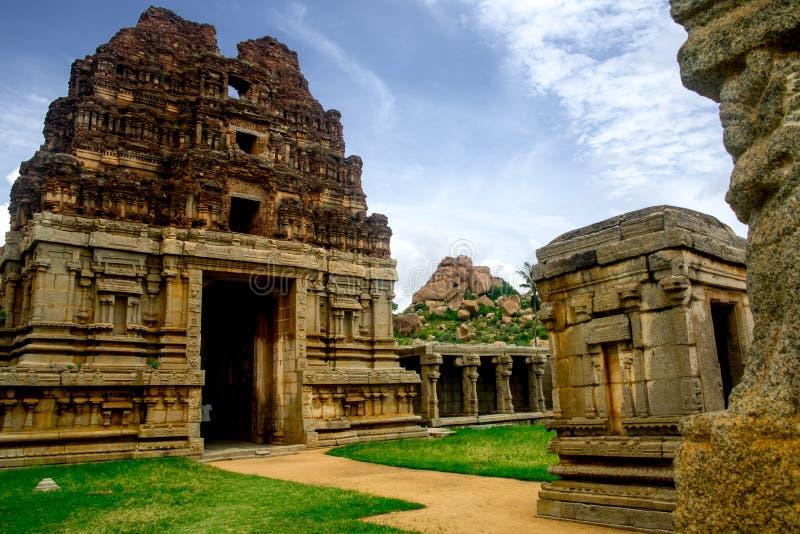 Achyutaraya Świątynny gopuram - fenomenalny kawałek od Południowej Indiańskiej historii obrazy royalty free