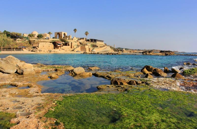 achziv以色列国家公园 库存照片