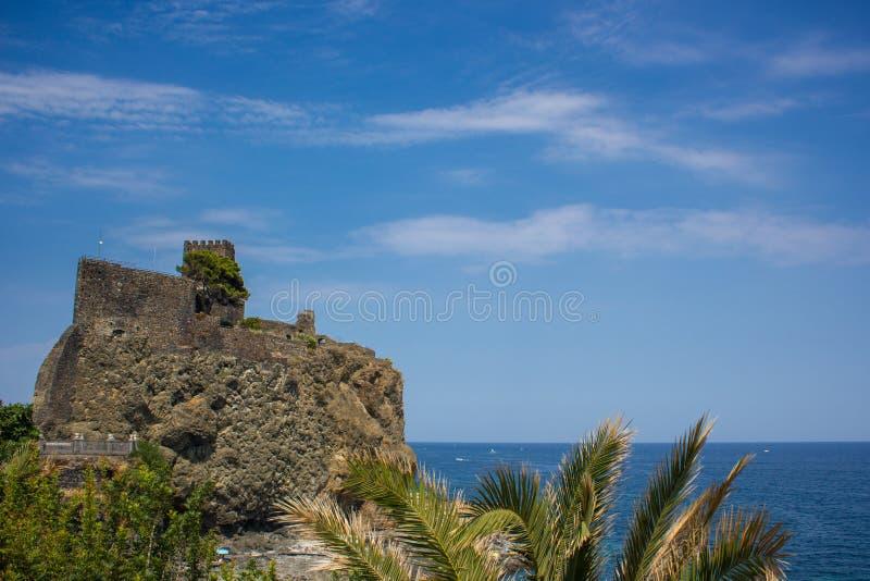 Aci Castello stock photography