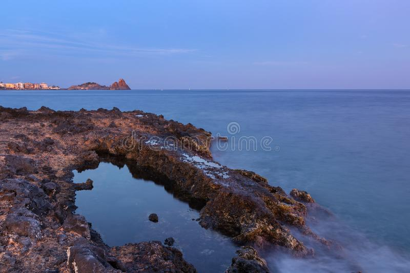 Aci trezza - Sicilië royalty-vrije stock afbeeldingen