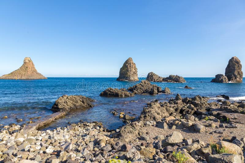 Aci Trezza, Sicilië, Italië royalty-vrije stock foto's