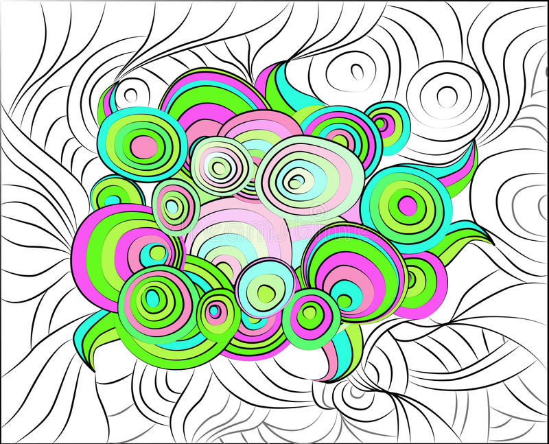 Acid abstract pattern royalty free stock photo