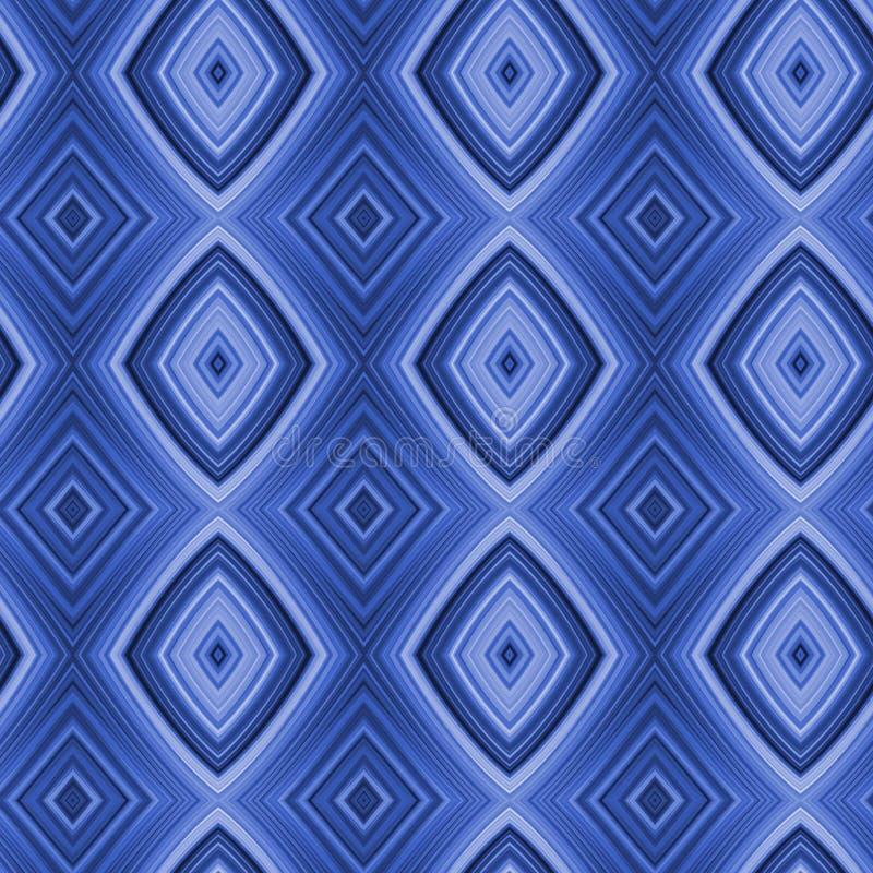 acid blue diamonds seamless 向量例证