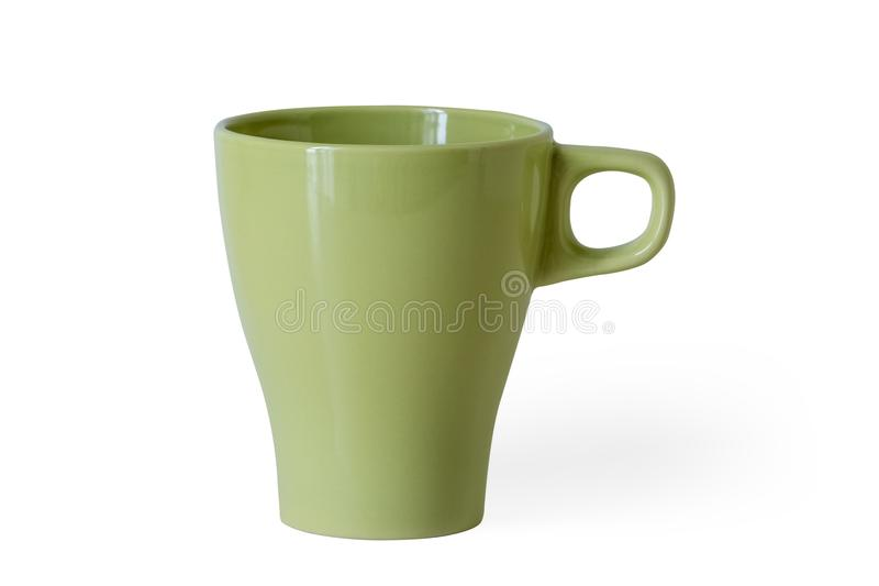 Acid green mug stock photo