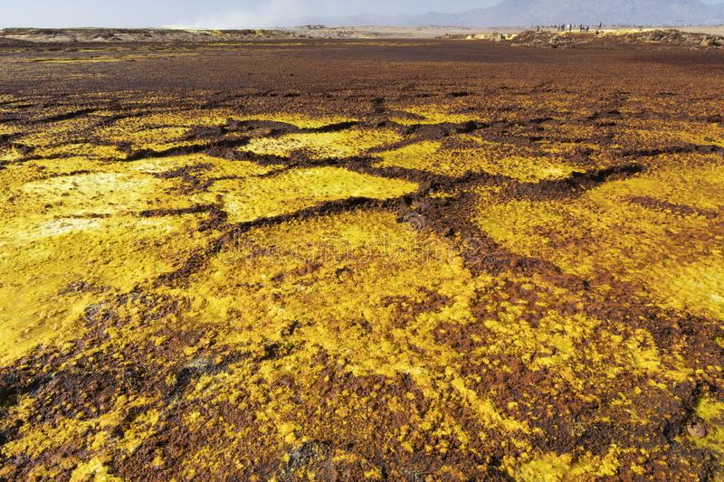 Acid and salty concretions in Dallol site in the Danakil Depression in Ethiopia, Africa. Acid and salty concretions in Dallol site in the Danakil Depression in stock photo