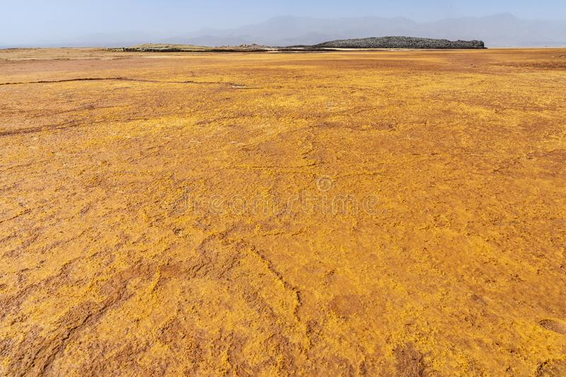 Acid and salty concretions in Dallol site in the Danakil Depression in Ethiopia, Africa. Acid and salty concretions in Dallol site in the Danakil Depression in royalty free stock image