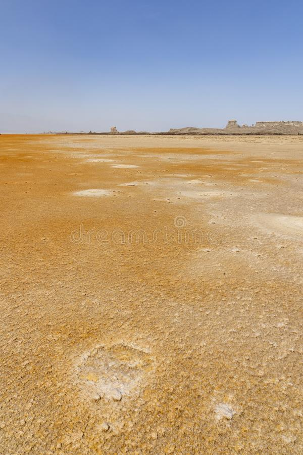 Acid and salty concretions in Dallol site in the Danakil Depression in Ethiopia, Africa. Acid and salty concretions in Dallol site in the Danakil Depression in royalty free stock images