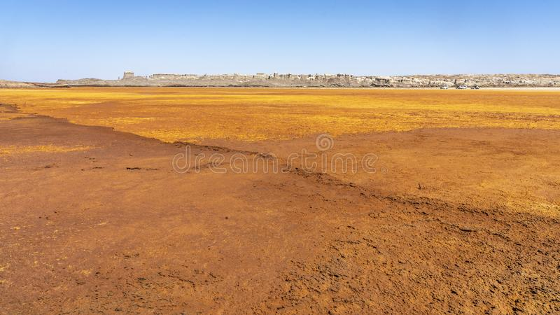 Acid and salty concretions in Dallol site in the Danakil Depression in Ethiopia, Africa. Acid and salty concretions in Dallol site in the Danakil Depression in royalty free stock photo