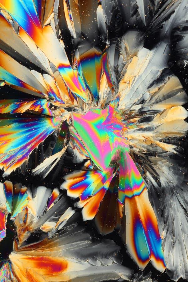 Acide citrique dans la lumière polarisée photographie stock libre de droits