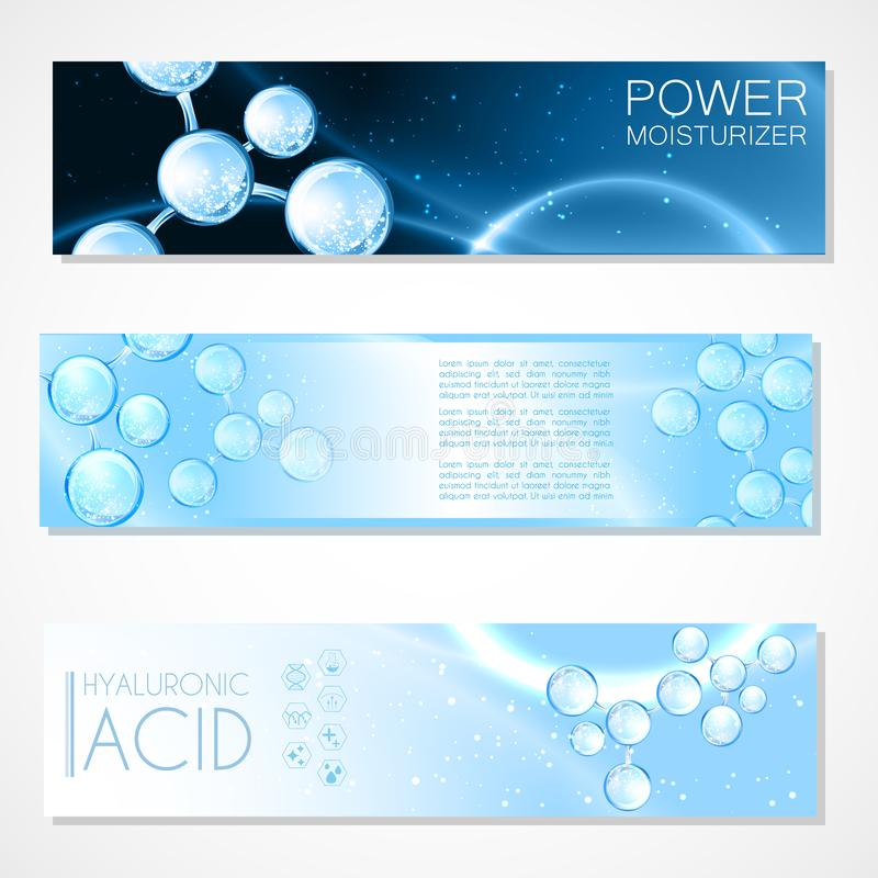 Acide de Hyaluron ou conception abstraite de la science de molécule illustration stock