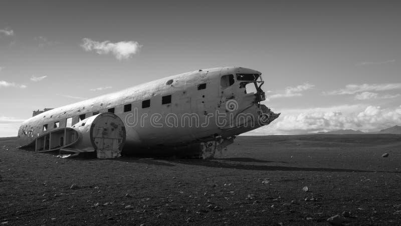 Acidente de aviação islandês do vintage fotos de stock royalty free