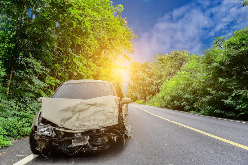 Acidente de choque de carro foto de stock