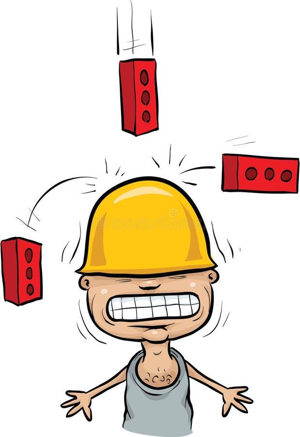 Acidente de queda do tijolo ilustração royalty free
