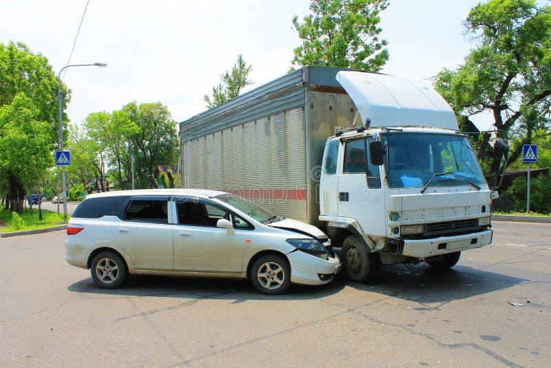 Acidente de tráfico 09.06.13 fotografia de stock