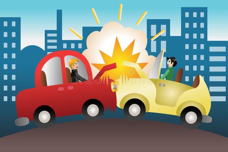 Acidente de trânsito na cidade ilustração royalty free