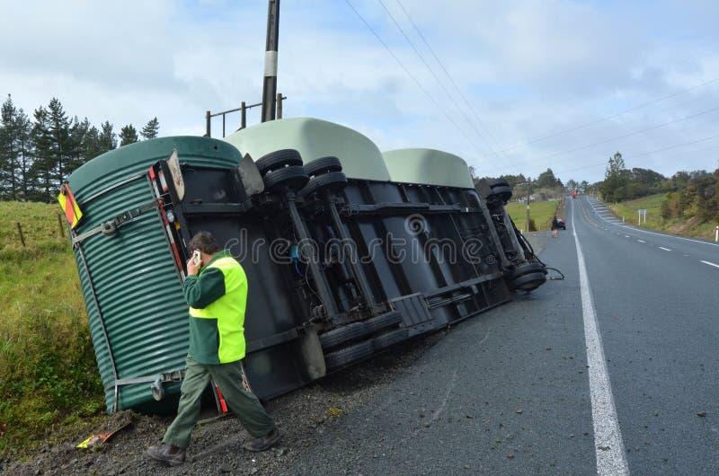Acidente do caminhão imagens de stock royalty free