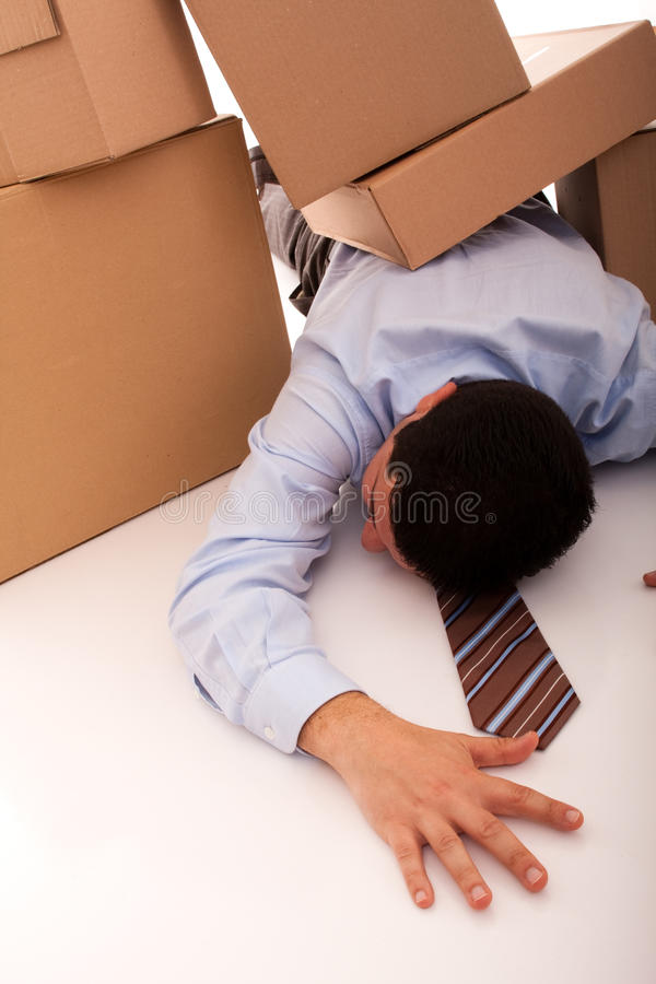 Acidente do homem de negócios imagens de stock