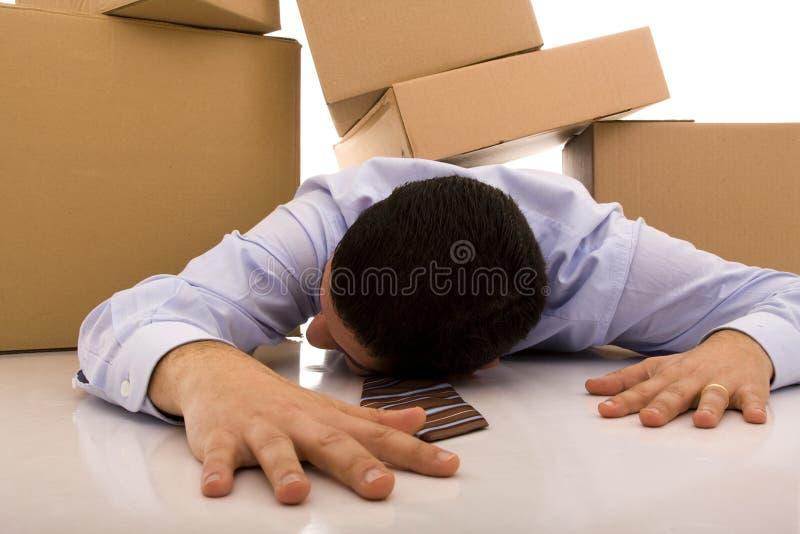 Acidente do homem de negócios foto de stock