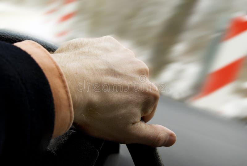 Acidente do patim da condução de carro foto de stock royalty free