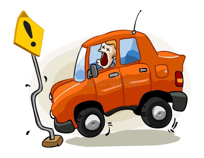 Acidente para o seguro ilustração do vetor