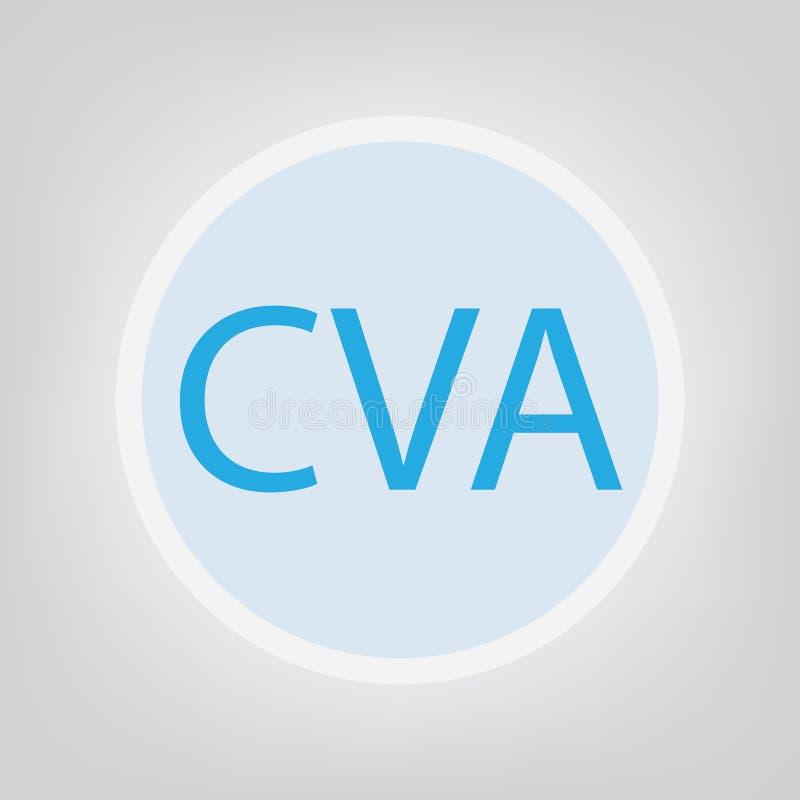 Acidente vascular cerebral de CVA ilustração royalty free