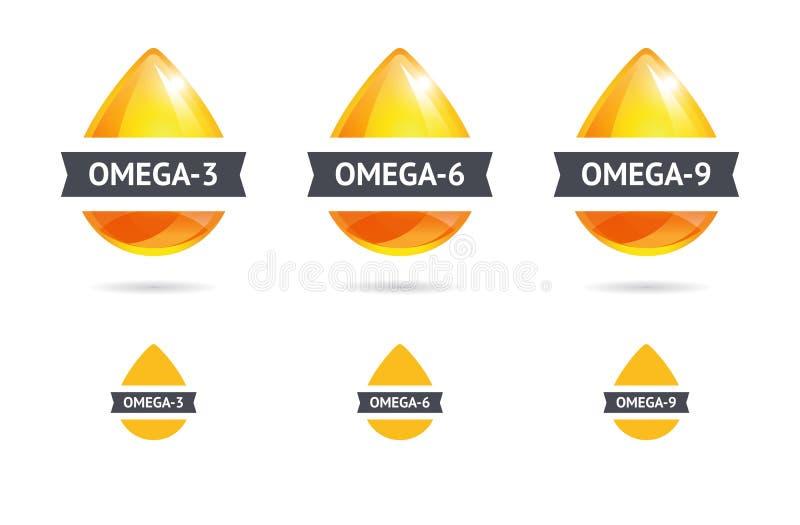 Acides gras d'Omega image libre de droits