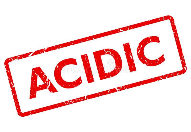 Acidic wektoru znaczek ilustracji