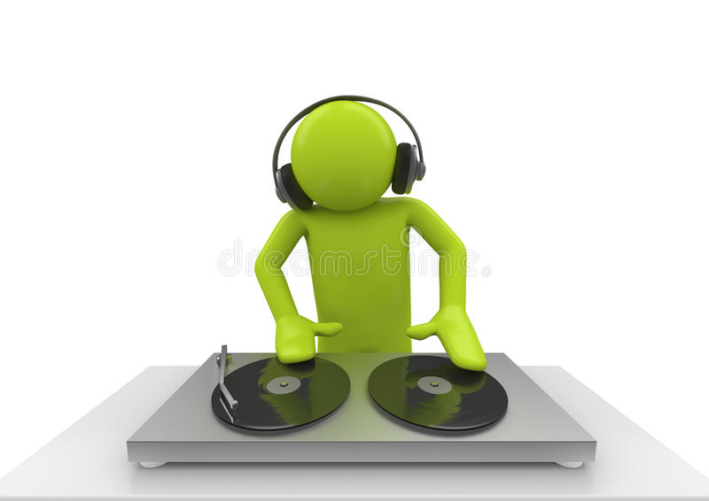 Acido DJ illustrazione di stock