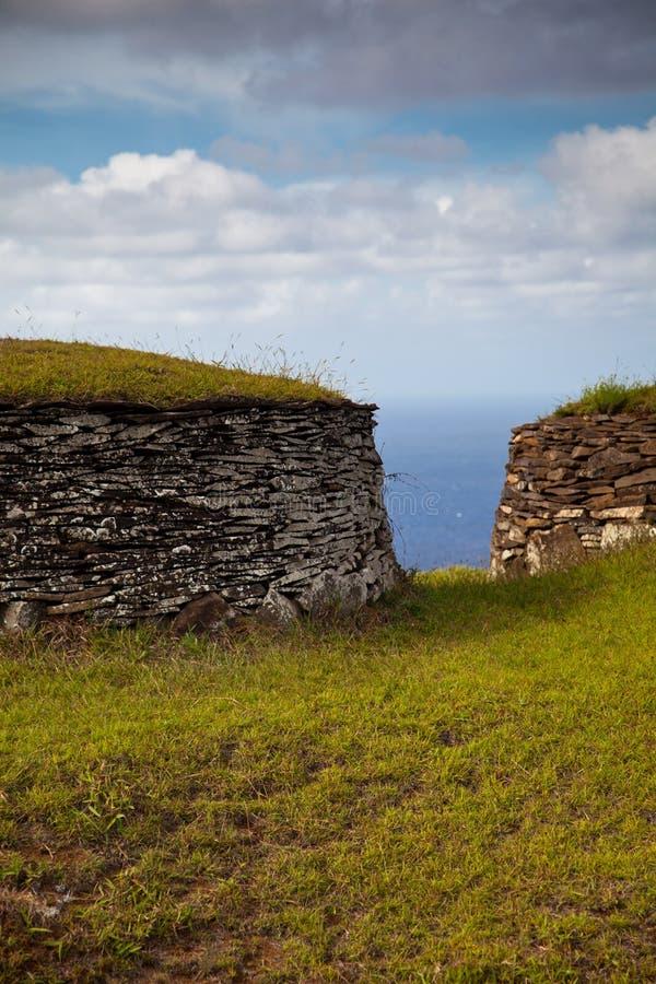 acient πέτρα νησιών σπιτιών Πάσχας στοκ εικόνα