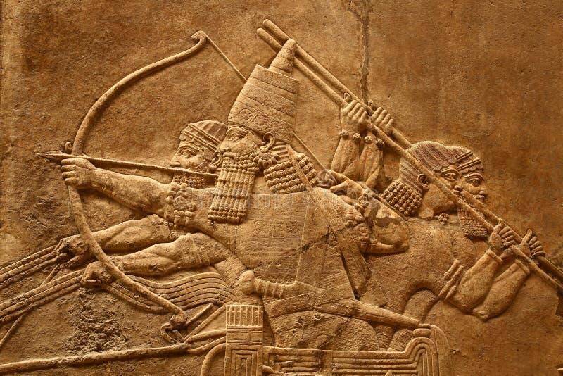 acient τέχνη 5 assyrian στοκ φωτογραφία