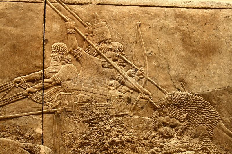Download Acient Assyrian art 2 stock image. Image of assyrian, chariot - 8536953