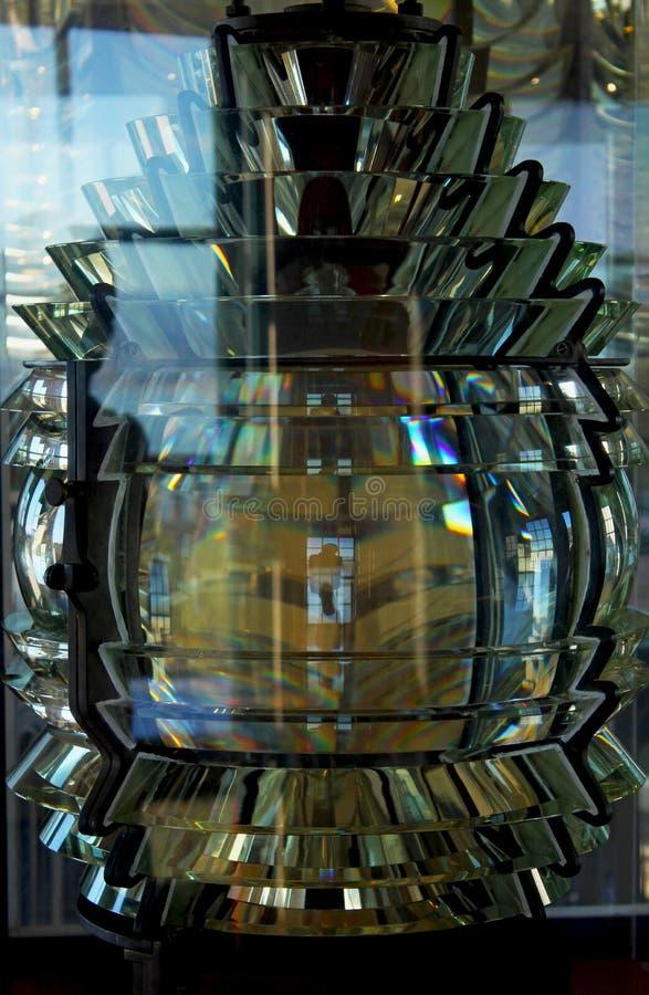 Acient gloeilamp van Punt Loma Lighthouse stock foto