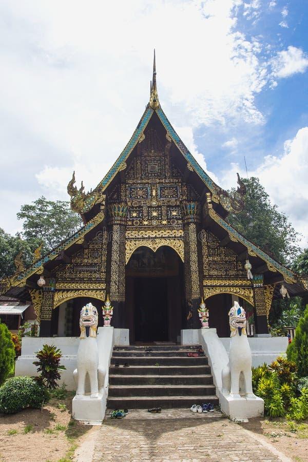 Acient tempel i Mae Jam arkivfoton