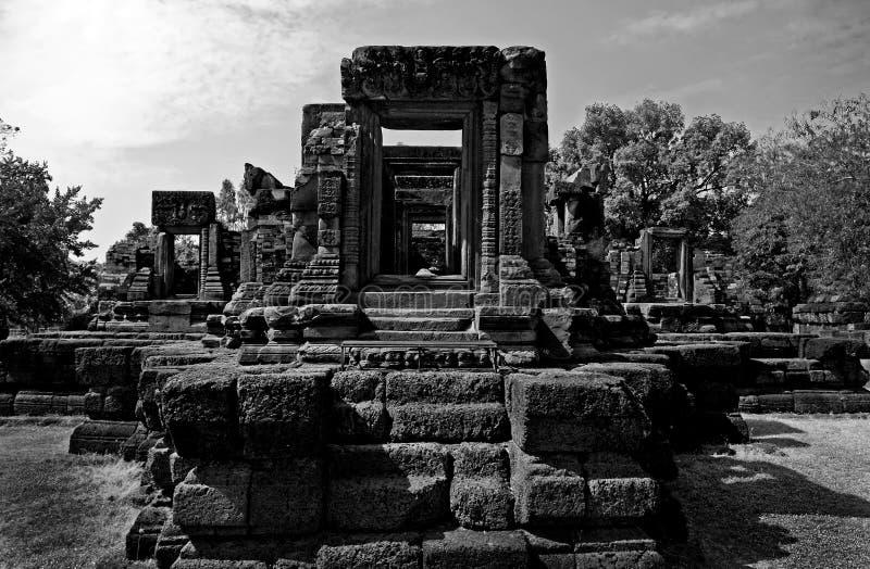 Acienttempel Thailand stock foto