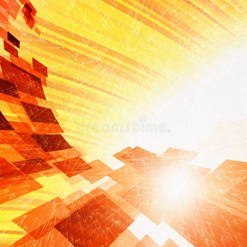 Acier chaud abstrait illustration de vecteur
