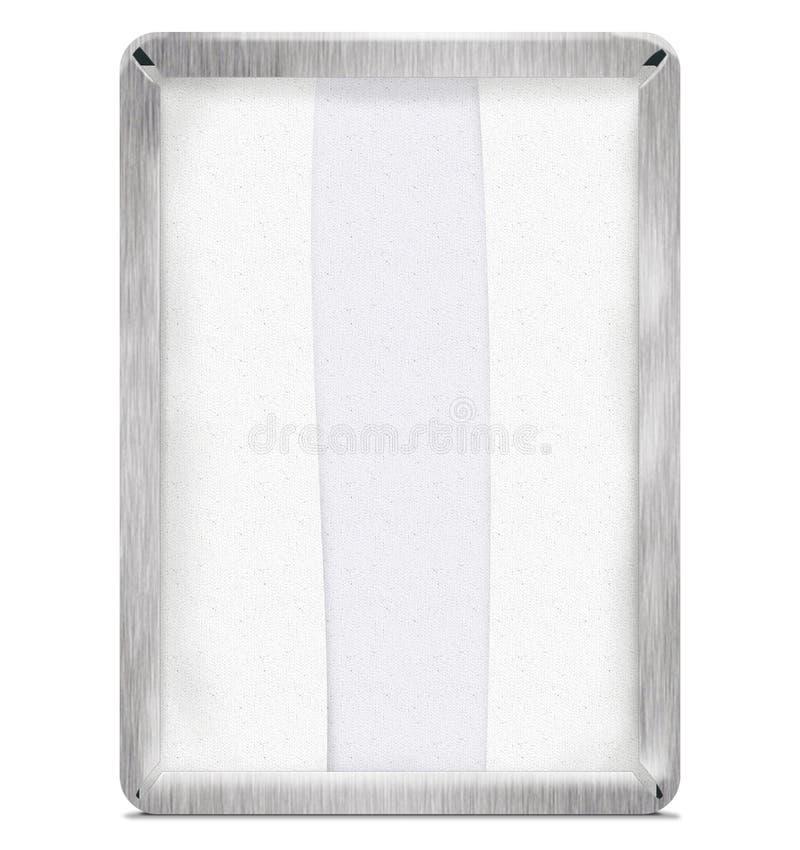 Acier de distributeur de serviette avec le chemin image libre de droits