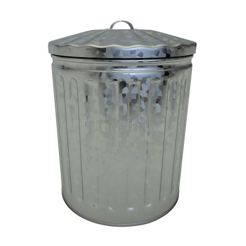 Acier galvanisé par poubelle illustration stock
