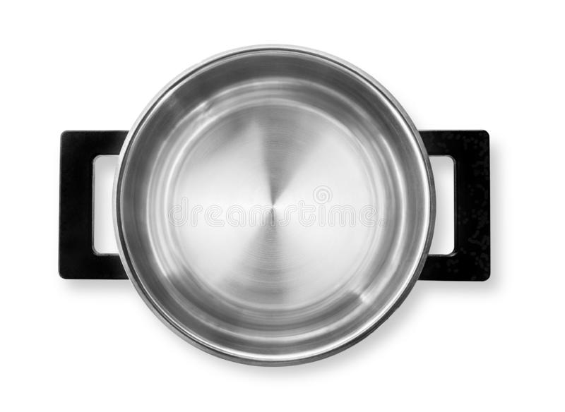 Acier inoxydable faisant cuire le pot d'isolement image stock