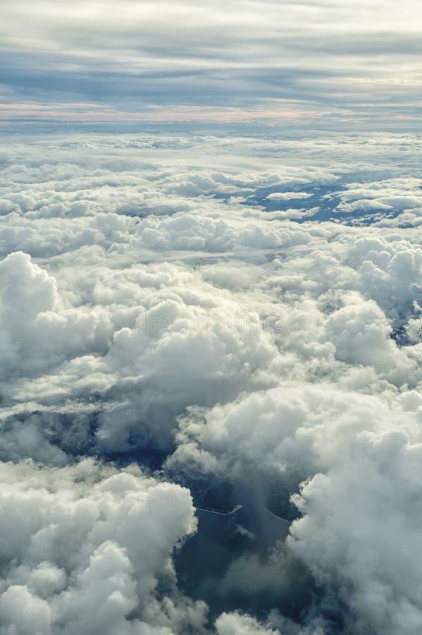 Acima das nuvens 3 imagens de stock
