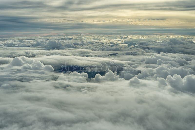 Acima das nuvens 1 foto de stock