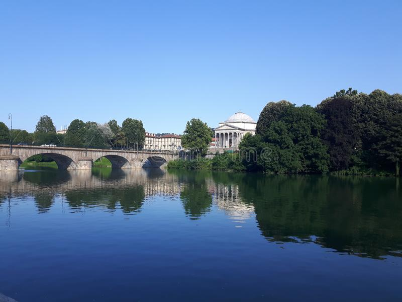 Acima de Turin em dias de verão imagem de stock