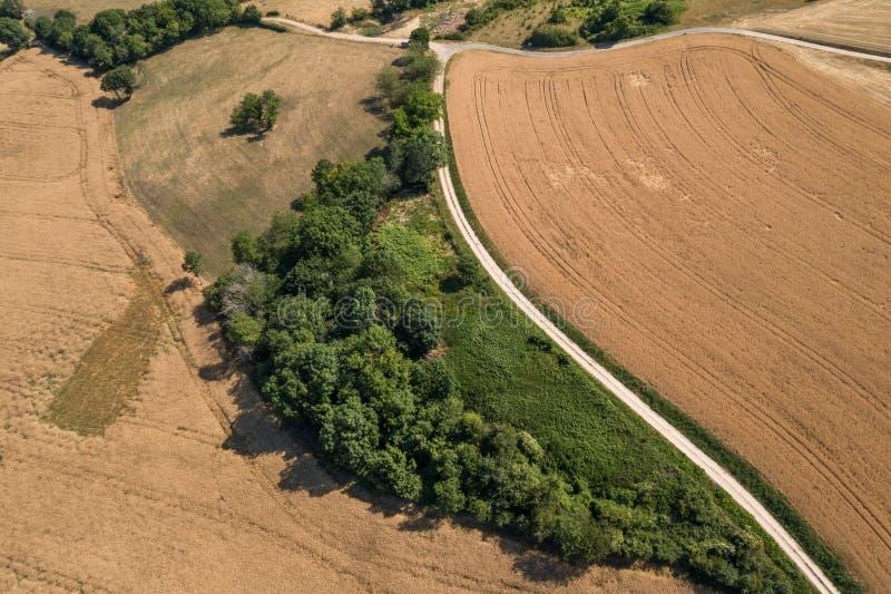 Acima de uma paisagem do campo em Borgonha foto de stock